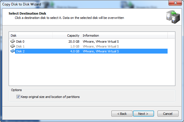 Disk Image.Copy Disk to Disk Wizard