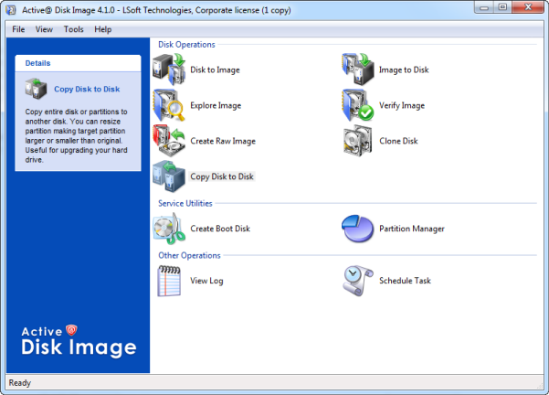 disk image software main window
